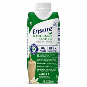 Ensure 100% Plant-Based Vegan Protein Nutrition Shakes with 20g Fava Bean and Pea Protein, Vanilla, for $43