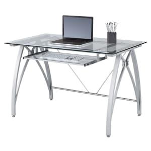 """Realspace Vista 48"""" Glass Computer Desk for $150"""