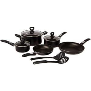 Mirro A797SA Get A Grip Aluminum Nonstick Cookware Set, 10-Piece, Black for $63
