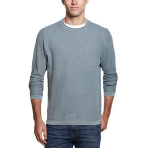 Weatherproof Vintage Men's Stonewashed Raglan Honeycomb Sweater for $14