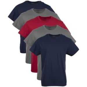 Gildan Men's Crew T-Shirt Multipack for $17