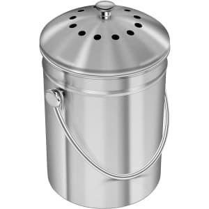 Utopia Kitchen Kitchen 1.3-Gal. Stainless Steel Compost Bin for $21