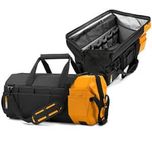 """ToughBuilt - 26"""" Massive Mouth Tool Bag   62 Pockets & Loops, Extreme Large Capacity Tote, for $125"""