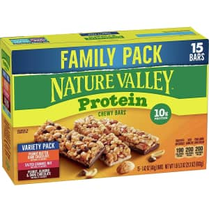 Nature Valley Chewy Granola Bars Protein 15-Count Variety Pack for $7