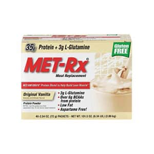 MET-Rx Original Whey Protein Powder,Meal Replacement Shakes, Low Carb, Gluten Free, Original for $69