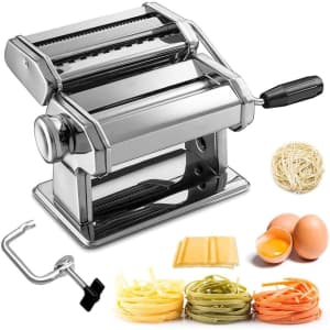 Homdox Manual Roller Pasta Maker Machine for $28