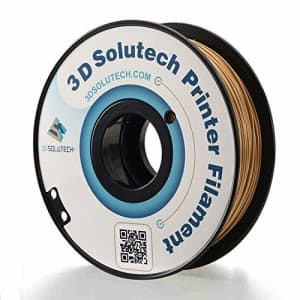 3D Solutech - PLA175RGLD Real Gold 3D Printer PLA Filament 1.75MM Filament, Dimensional Accuracy for $23