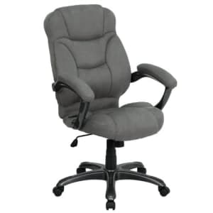 Flash Furniture High Back Gray Microfiber Contemporary Executive Swivel Ergonomic Office Chair with for $265