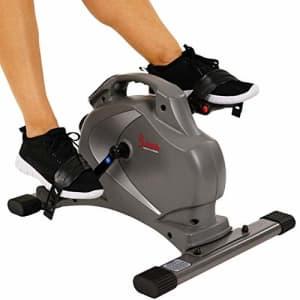 Sunny Health & Fitness SF-B0418 Magnetic Mini Exercise Bike, Gray for $214