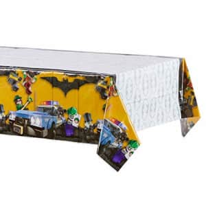 """American Greetings Lego Batman Party Supplies, Plastic Table Cover, 54"""" x 96"""" for $11"""