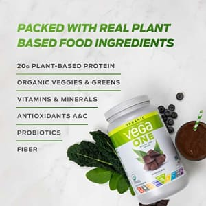 Vega One Organic Meal Replacement Plant Based Protein Powder, Plain Unflavored - Vegan, Vegetarian, for $32