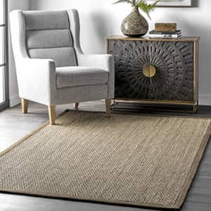 nuLOOM Elijah Natural Seagrass Farmhouse Area Rug, 3' x 5', Brown for $43