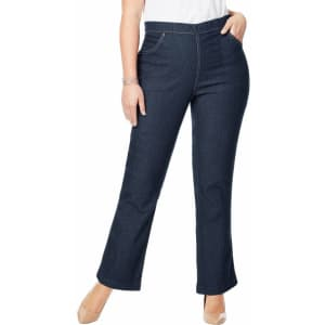 Just My Size Women's Plus 4-Pocket Bootcut Jeans for $18 in cart