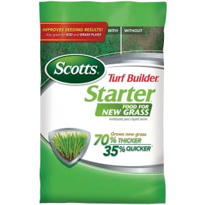 Scotts Turf Builder Starter Food 15 lb. Bag for $20