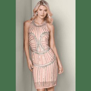 Venus Women's Beaded Mini Dress for $30