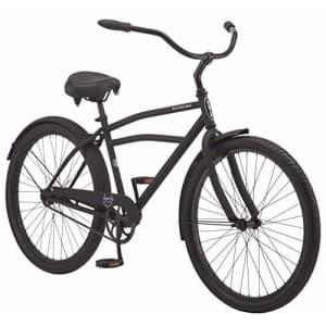 Schwinn Huron Adult Beach Cruiser Bike, Featuring 17-Inch/Medium Steel Step-Over Frames, 1-Speed for $375
