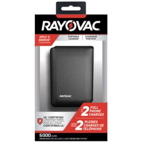 Rayovac 6,000mAh Portable Charger for $15