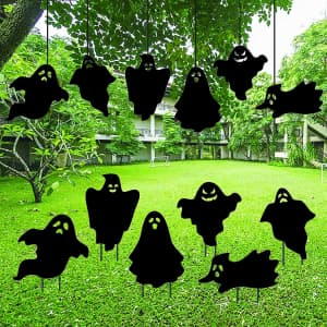 Firegodzr Ghost Silhouette Yard Sticks 6-Pack for $8