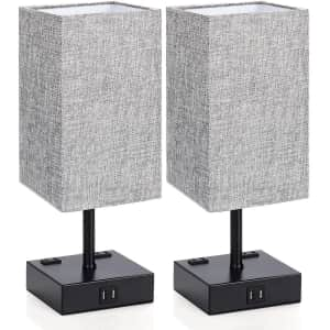 MAXvolador Touch Control Table Lamps 2-Pack for $50