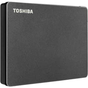 Toshiba Canvio Gaming 2TB Portable External Hard Drive for $75