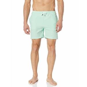 Marc Joseph New York Men's Madison Quick Dry Swim Trunks with Mesh Lining, Mint, XX-Large for $61