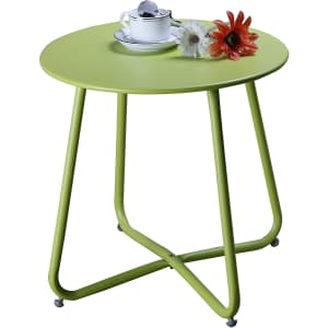 Grand Patio Steel Side Table for $40