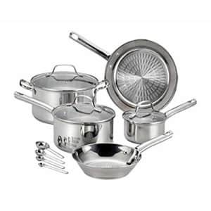 T-fal Pro E760SC Performa Stainless Steel Dishwasher Oven Safe Cookware Set, 12-Piece, Silver, 0 for $100