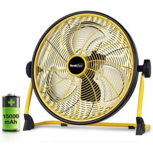"""Geek Aire 16"""" Rechargeable Outdoor High Velocity Floor Fan for $160"""