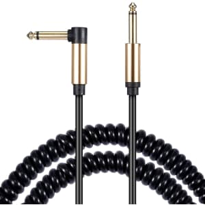 Asmuse 16-Foot Coiled Guitar Cable for $15