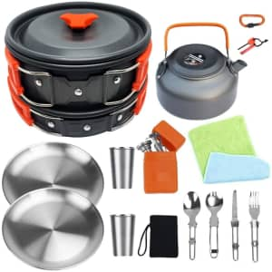 Bisgear Camping Cookware Kit for $30