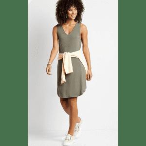 Maurices Women's Double V-Neck Shift Dress for $12