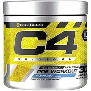Cellucor C4 Original Pre Workout Powder ICY Blue Razz - Vitamin C for Immune Support - Sugar Free Preworkout for $22