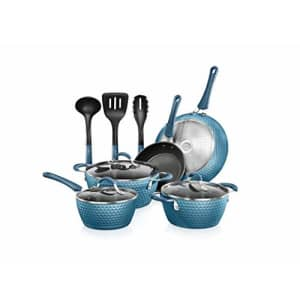 NutriChef Nonstick Cookware Excilon | Home Kitchen Ware Pots & Pan Set with Saucepan, Frying Pans, for $98