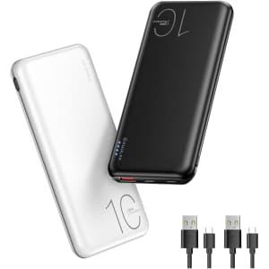 Kuulaa 10,000mAh USB-C Power Bank 2-Pack for $30