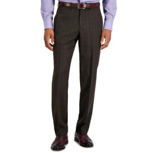Perry Ellis Portfolio Men's Modern-Fit Subtle Check Performance Dress Pants for $20