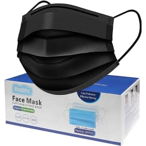 Masbhc Disposable Face Mask 50-Pack for $6