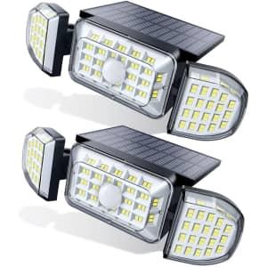 Claoner Solar Flood Light 2-Pack for $21