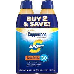 Coppertone Sport SPF 30 5.5-oz. 2-Pack for $11 via Sub & Save