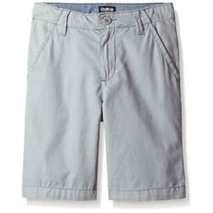 OshKosh B'Gosh Boys' Flat Front Shorts 31069510, Wolf Gray, 8 for $28