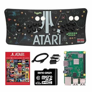 Inland Atari Ultimate Arcade Fightstick USB Dual Joystick 2 Player Game Controller Powered by Raspberry Pi for $150