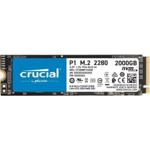 Crucial P1 2TB 3D NAND NVMe PCIe Internal SSD for $242