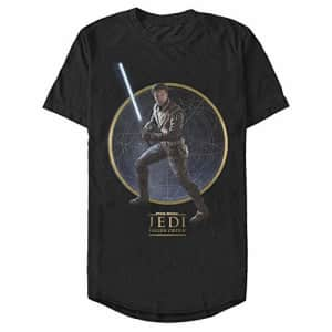 STAR WARS Men's T-Shirt, Black, Medium for $7