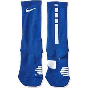 Nike Elite Basketball Crew Socks (Game Royal/White, Small) for $25