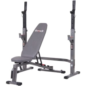Body Champ Olympic Weight Bench and Squat Rack 2-Piece Set for $168 + $30 Kohl's Cash