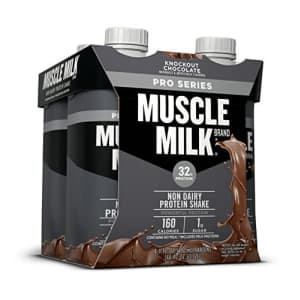 Muscle Milk Pro Series Protein Shake, Knockout Chocolate, 4 Count for $15