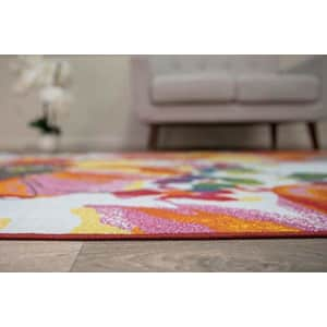 """Rugshop Modern Bright Flowers Non-Slip Area Rug 3'3"""" x 5' Multicolor for $43"""