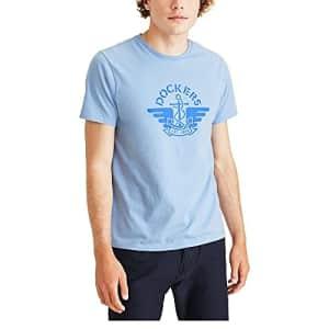 Dockers Men's Logo T-Shirt, Chambray Blue, X-Large for $15