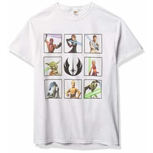 Star Wars Men's T-Shirt, WHITE, xx-large for $11