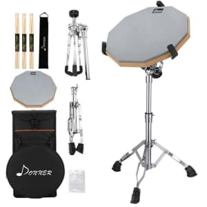 Donner Practice Drum Pad Kit w/ Stand for $38