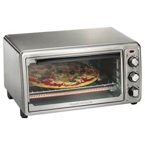 Hamilton Beach 6-Slice Countertop Toaster Oven with Bake Pan, Stainless Steel (31411) for $65